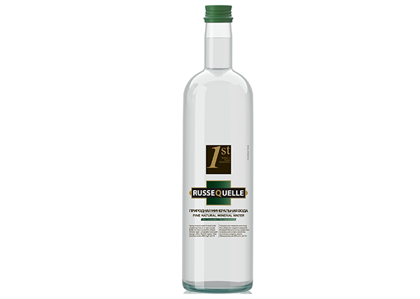 Spring Mineral Water RusseQuelle, still, bottle 0.75 L