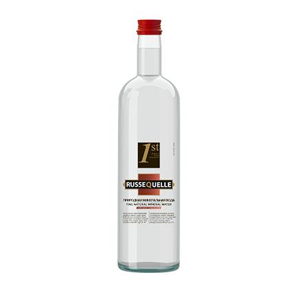 Spring Mineral Water RusseQuelle, Sparkling, bottle 0.75 L